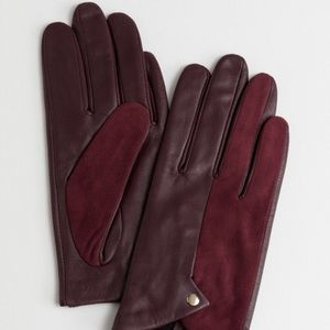 & Other Stories Accessories - New & Other Stories leather and suede gloves